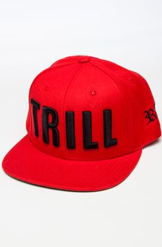 TRILL SNAPBACK (RED) by Roberto Vincenzo