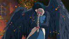Howl and Sophie - howls-moving-castle Fan Art Hayao Miyazaki, Art Studio Ghibli, Studio Ghibli Movies, Howl Et Sophie, Sophie Howl's Moving Castle, Manga Anime, Fan Art, Image Manga, Totoro