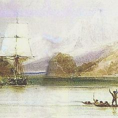 "Charles Darwin began his adventure of a lifetime as a geologist aboard the HMS Beagle. He detailed his findings in his first book, ""Voyage of HMS Beagle"". I blogged August 7, 2015, with ""Before finches, Darwin had fossils."" Painting c. 1833, by the Beagle's draughtsman, Conrad Martens, via wikipedia."