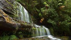 Preview wallpaper waterfall, river, rocks, summer 1920x1080