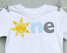 boy's sun shirt you are my sunshine ONE birthday by SoSimplySusan