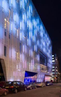 Artificial Light - Building facade of a downtown club