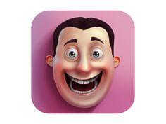 Emoji and sticker studio application icon on Behance