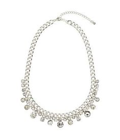Silver rhinestone necklace perfect for girls wearing a mint prom dress #mint #prom #stpatricksday #jewelry