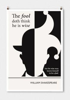 Evan Robetson. Cartel minimalista: William Shakespeare.