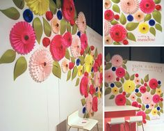 simple paper flowers, tissue paper flowers, booth decor, paper flower display, wall flowers, tissue paper backdrop, paper wall decor, girl rooms, parti