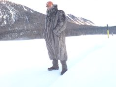 chilly weather in St. Moritz. Yes... and I love silver fox