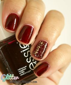 #holiday nails Essie Skirting The Issue & NYX Gilded Glitter
