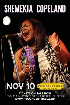 """""""New Queen of the Shemekia Copeland / Shemekia Copeland live at Ponte Vedra Concert Hall in Ponte Vedra Beach, Florida on Nov Florida Festivals, Live Jazz, Ponte Vedra Beach, Jazz Blues, Concert Hall, Mondays, Real People, Concerts, Albums"""