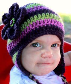 purple baby hat :)