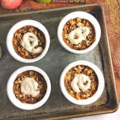 Looking for Halloween desserts that won't contribute to the candy overload? This easy yogurt dip makes the perfect Halloween party food for kids and adults. Halloween Desserts, Halloween Food For Party, Apple Crisp Pie, Healthy Thanksgiving Recipes, Mini Apple Pies, Crisp Recipe, No Bake Treats, Kids Meals, Peanut Butter