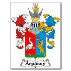 Arpassy Familien-ungarisches Wappen Postkarte