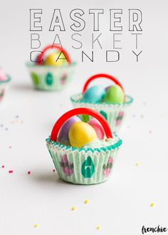 Make these Easter basket candies for the upcoming holiday. Start a new family tradition with your children or grandchildren. Check it out today on craftingchicks.com