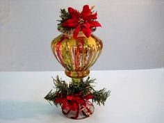 Christmas Candy Jar ~ Featuring Miriam Joy Make from a jar and candle stick holder from Dollar Tree.  www.miriamjoy.com