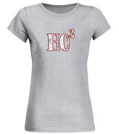 Ho Ho Ho Cubed Funny Distressed Christmas Math Pun T-shirt