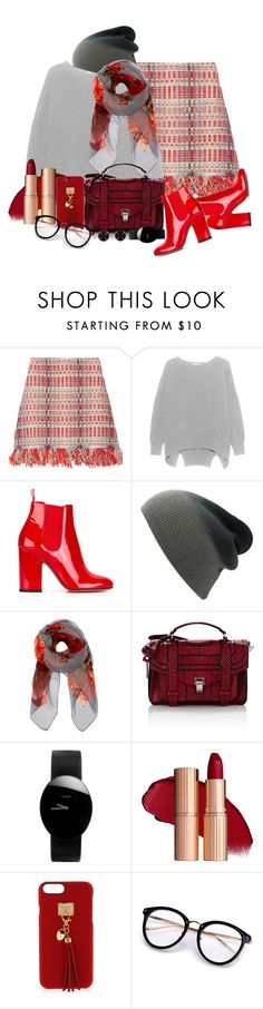 """Tweed Skirt - Outfit only"" by no-where-girl ❤ liked on Polyvore featuring Tory Burch, Laurence Dacade, Furla, Proenza Schouler, Rado, Henri Bendel and Melissa Joy Manning"