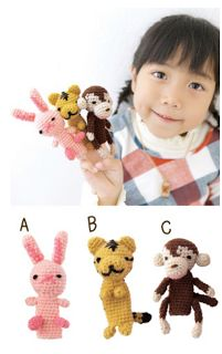Crochet Amigurumi Free Pattern 10 finger puppets