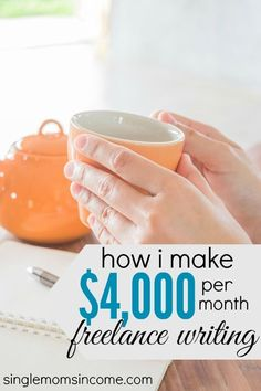 Want to make money freelance writing? Learn how Gina went from $0 to $4,000 per month as a freelance writer in less than six months! http://singlemomsincome.com/how-i-went-from-zero-to-4000-per-month-in-less-than-6-months-as-a-freelance-writer/ Money Making Ideas #Money