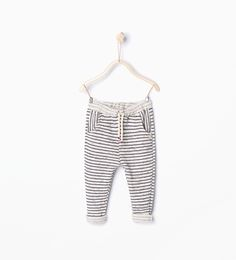 Stripe print trousers-Skirts and trousers-Baby girl (3 months - 3 years)-KIDS | ZARA United States