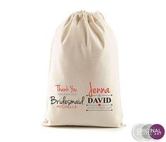 Bridesmaid-Bestman-PERSONALISED-Name-Favour-Wedding-Gift-Canvas-Stuff-Bag-d1