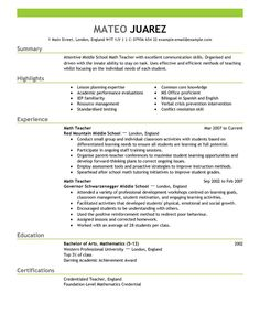 find this pin and more on resumes sample templates for teacher