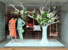 VM | Window Visual Merchandising | VM | Window Display | Mulberry Spring 2013 windows