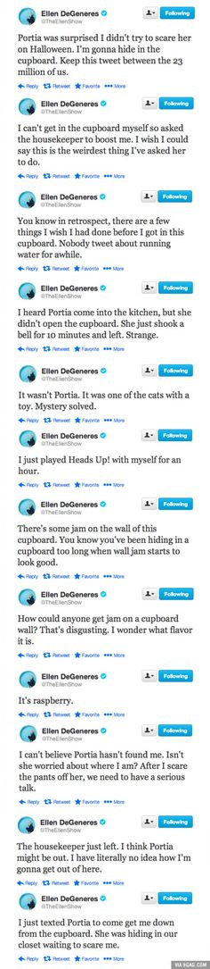 """Married Life with Ellen and Portia""  Omg lmaooo"