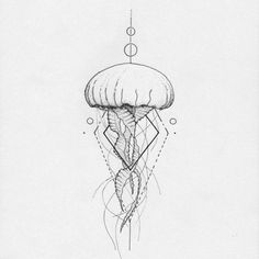 Image result for simple jellyfish tattoo