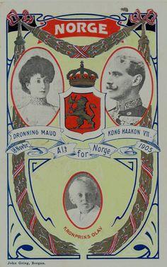 Norges Kongefamilie 1905 Utg J. Griegs Kunstforlag, Bergen