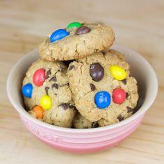Receta express para cookies sin huevo (y con M&M's!)