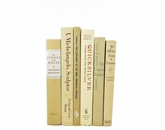 A rustic book collection for home decor and weddings in soft wheat beige shades with antique books from the 1940s to 1970s. Length: 6 Height: 9 1/2 CURIOUS ABOUT THIS SHOP: http://www.etsy.com/shop/thewholebook STYLISH DECORATIVE BOOK SETS AND LUCY DAWSON DOG PRINTS IN OUR SHOP,