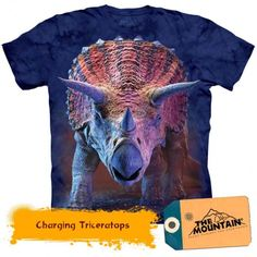 online shopping for The Mountain Kids Charging Triceratops T-Shirt from top store. See new offer for The Mountain Kids Charging Triceratops T-Shirt Dinosaur Toys, Oeko Tex 100, Old Glory, Tye Dye, T Rex, Tshirts Online, Bunt, Screen Printing, Classic T Shirts