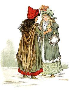 Die Schneekönigin::The Snow Queen ~ Hans Christian Andersen. Illustriert von T. Pym.