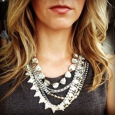 Stella & Dot's best seller, The Sutton, layered with the gold Somervell. Love this look! http://www.stelladot.com/danaseymour