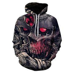 New 2018 Custom Unisex Sweatshirt Skull Printed Pullovers Hoodies D – dresslliy Sweat Cool, Road Bike Clothing, Skull Hoodie, Skeleton Hoodie, Cool Hoodies, Men's Hoodies, Tall Guys, Tall Men, Unisex Fashion