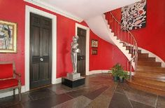 red painted walls in living room   red painted walls Red Painted Walls
