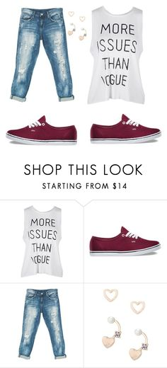 """""""Sin título #49"""" by abril-422 on Polyvore featuring moda, Vans, Sans Souci y Lipsy"""