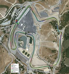 Would love to visit this track.. It would be amazing to actually drive it.. :D Laguna Seca Raceway in Monterrey, California