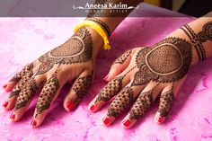 Aneesa Karim-Mehndi Artist - Portfolio