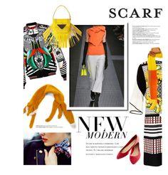 """SCARF"" by hellodollface ❤ liked on Polyvore featuring Clover Canyon, MSGM, Vika Gazinskaya, Louis Vuitton, Balmain, Wet Seal, Sara Battaglia and scarf"