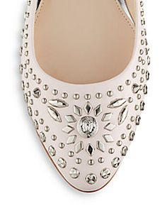 Studded Leather Flats