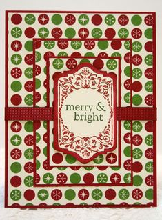 For the Operation Write Home challenge of tiered layers I used retired Stampin' Up paper, Chalk Talk and All Year Cheer I stamp sets with ...