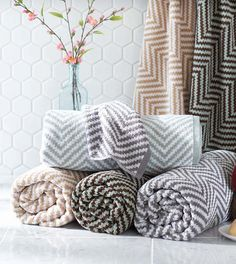Better Homes And Gardens Extra Absorbent Chevron Towels