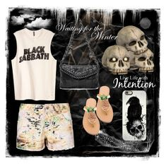 """""""The dark side of shorts"""" by silvijo ❤ liked on Polyvore featuring Mystique, Casetify and printedshorts"""