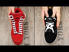 3 Creative Ways To Lace Your Shoes Creative Shoes, Unique Shoes, Ways To Tie Shoelaces, Ways To Lace Shoes, Shoe Lacing Techniques, Tenis Converse, Shoe Crafts, Vans Outfit, Tie Styles
