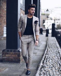Estilo de ropa hombre y moda casual masculina. Suits Outfits, Outfits Casual, Mode Outfits, Men's Casual Fashion Blazer, Sweater Outfits, Business Casual Men, Men Casual, Glam Look, Mode Man
