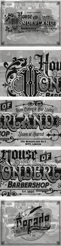 660a9687049099 House of Wonderland Barbershop on Behance Western Fonts