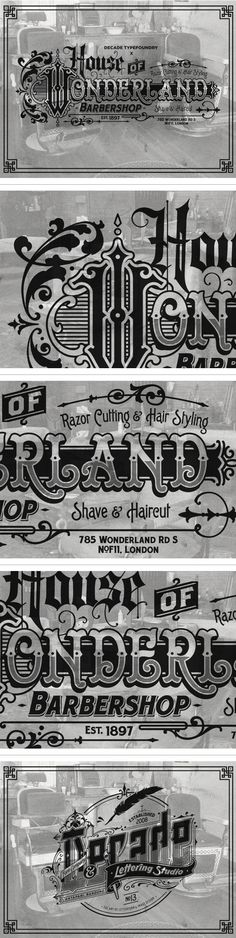 House of Wonderland Barbershop on Behance