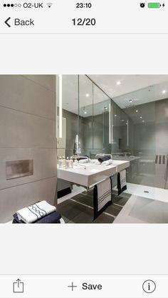 White shower tray