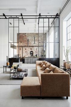 Loft Interior Design, Loft Design, Home Interior, Industrial Interior Design, Industrial Loft, Rustic Loft, Industrial Flooring, Industrial Apartment, House Doctor